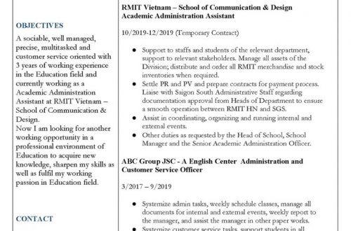 Cách sửa CV để apply hiệu quả hơn - Adele Doan Blog